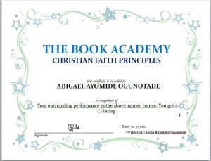 online bible school with certificate of completion